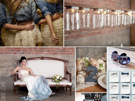 denim themed wedding
