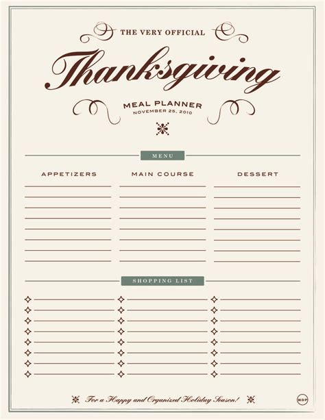 thanksgiving meal planner porque lo digo yo pinterest