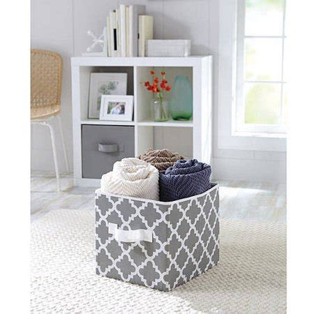 better homes storage cube better homes and gardens collapsible fabric storage cube set of 2 colors walmart