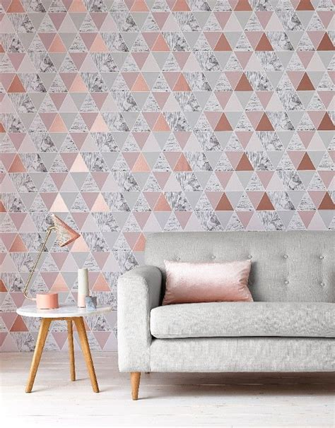 light pink wallpaper for bedrooms 25 best ideas about geometric wallpaper on