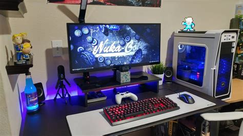 gaming computer desk setup jtg ultimate 3000 gaming pc desk setup 2017 youtube