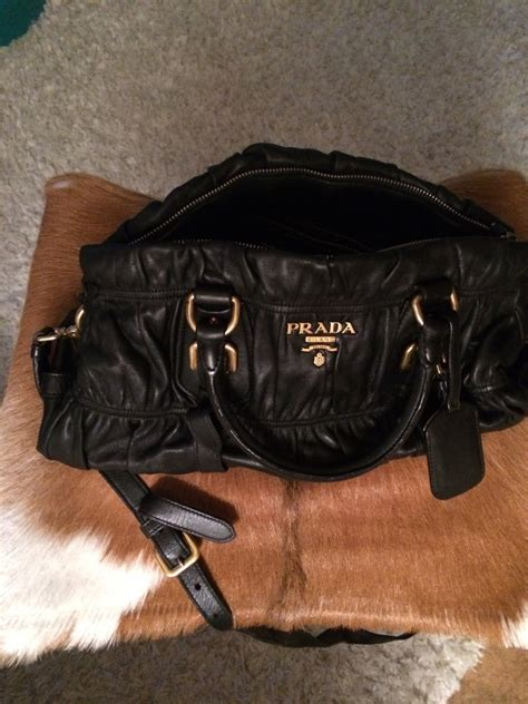 Handmade Leather Handbags Melbourne - letgo prada black leather handbag in melbourne fl