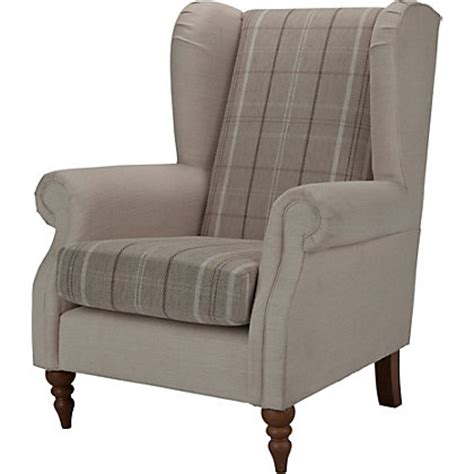 homebase armchairs heart of house argyll checked chair mink cream