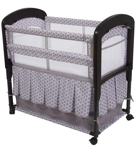 arm s reach cambria co sleeper bassinet with skirt clover