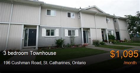 3 bedroom house for rent in st catharines 196 cushman road st catharines townhouse for rent b42779