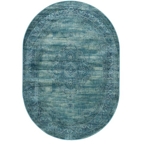 safavieh vintage turquoise multi 5 safavieh vintage turquoise multi 5 ft 3 in x 7 ft 6 in oval area rug vtg112 2220 5ov the