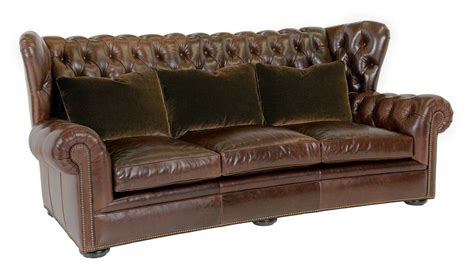 traditional settee classic leather pomeroy tufted sofa cl8613