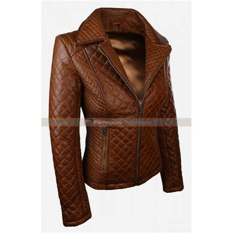 Quilted Leather Jacket Womens by Womens Brown Quilted Leather Jacket