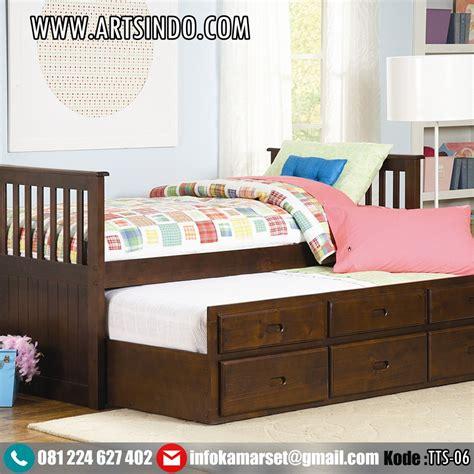 Tempat Tidur Sorong Minimalis jual tempat tidur sorong ranjang anak perempuan laki