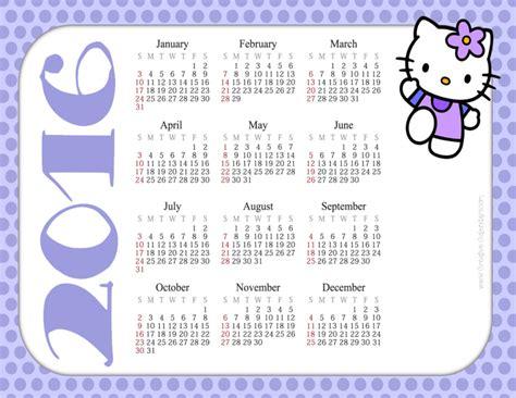 C2016 Calendar Free Printable Hello Calendars