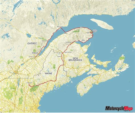 Quebec Motorcycle Tour Gaspé Bike Route with Attraction Stops