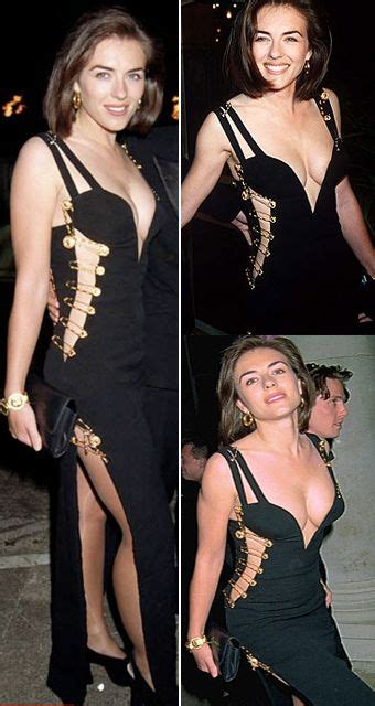 Buy Elizabeth Hurleys Safety Pin Versace Dress by 1994 Liz Hurley Black Gianni Versace Dress Held Together