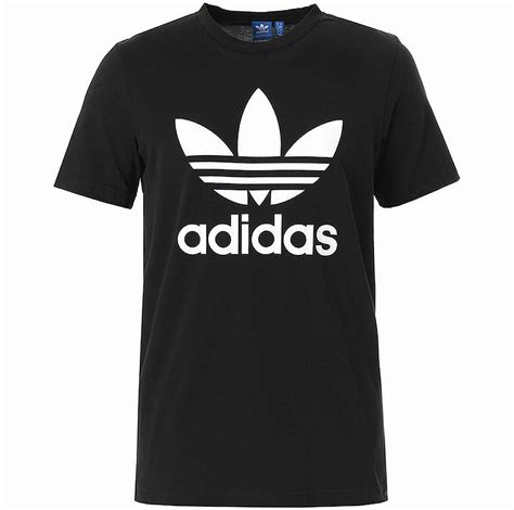 Original Adidas Essentials Box Logo Tshirt Athletics S98726 Adidas Originals Trefoil Logo Shirt Black White