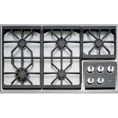 36 propane cooktop wolf ct36g s lp 36 quot gas cooktop liquid propane
