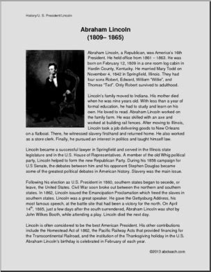 abraham lincoln biography questions lincoln biography reading comprehension about president