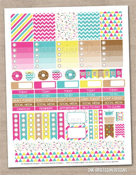 Printable Planner Kits | ink obsession designs coffee donuts printable weekly