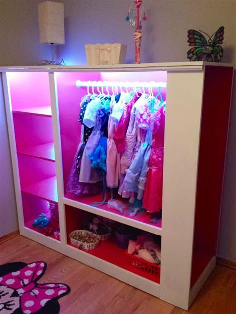 dress up armoire this dad turned a tv cabinet into an incredible dress up