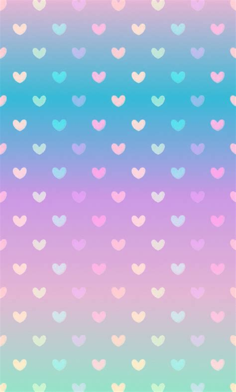 wallpaper cantik for iphone gradient pastel heart wallpaper by ѕαмαηтнα ѕєяєηα ღ we