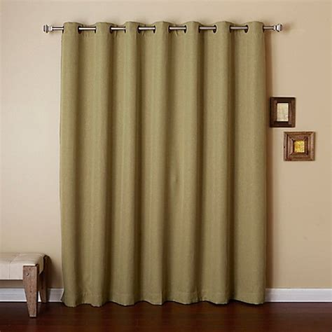 Width Of Curtains For Windows Buy Decorinnovation Wide Width 96 Inch Grommet Top Room Darkening Window Curtain Panel In Green