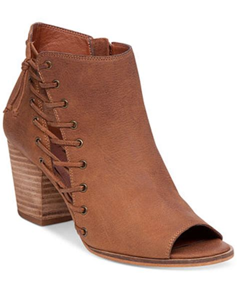 macy s lucky brand boots lucky brand s hartlee lace up booties boots
