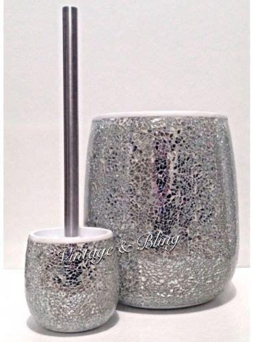 sparkle bathroom mirror silver crackle mirror glass bathroom sparkle glitter bin