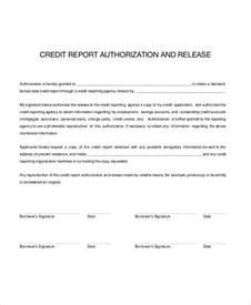 Credit Report Authorization Form Template by Doc 839911 Credit Check Release Form Authorization For