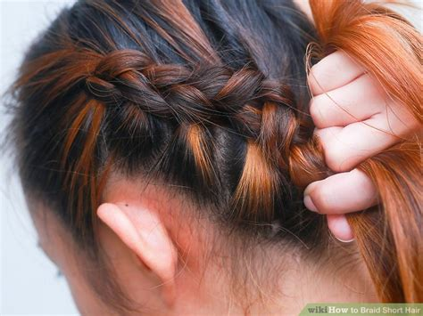 step by step braid short hair how to braid short hair with pictures wikihow