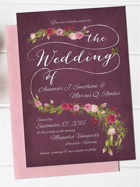 printable sophisticated wedding invitation template