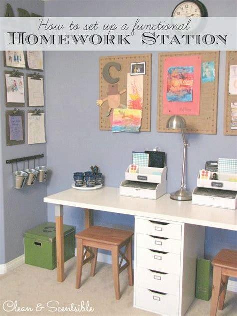 homework desk ideas best 25 kids homework station ideas on pinterest
