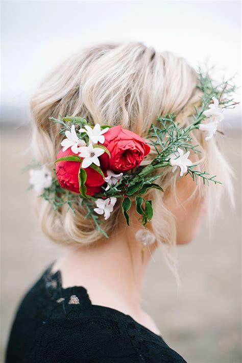 hairstyles  flower wreaths  fall pretty