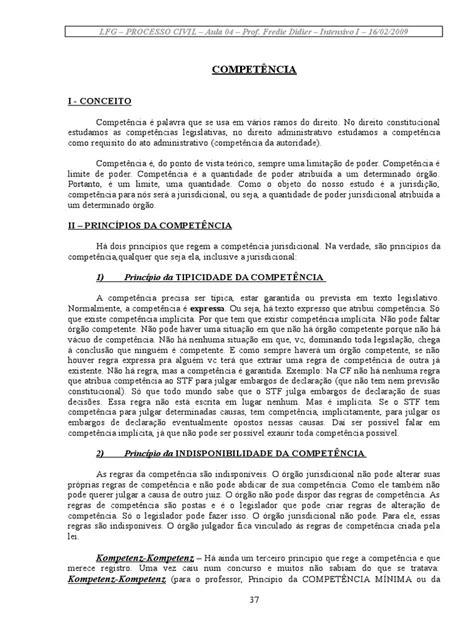 04 - Fred Didier (Aula LFG) | Competência (Direito
