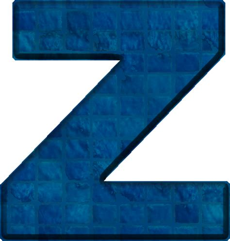 Cool Technology by Presentation Alphabets Blue Tile Letter Z