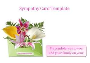 condolences card template images