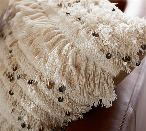 Moroccan Wedding Blanket Pillow Cover   Neutral   Pottery Barn