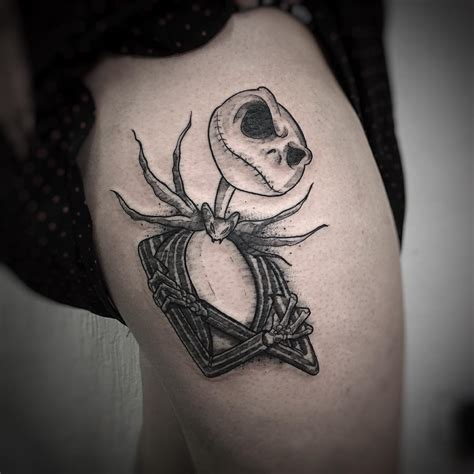 jack skellington tattoo thigh skellington best ideas gallery
