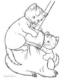 Animal printable dog and cat coloring pages coloring tone
