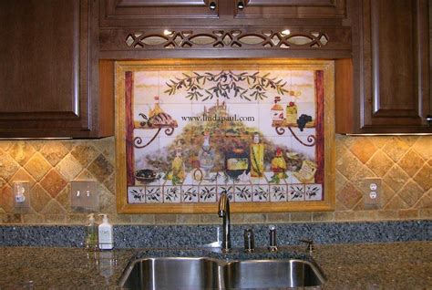 italian kitchen backsplash murals horner h g