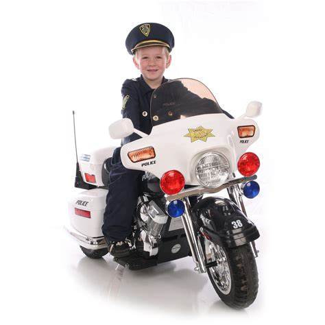 kids motorbike kid motorz police motorcycle 12 volt battery powered ride
