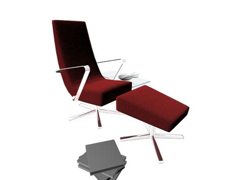 reclining office chair with ottoman office reclining chair with ottoman 3d model 3dsmax files