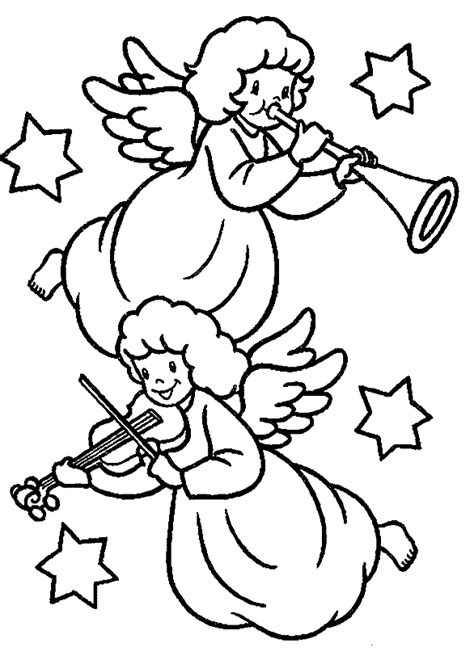 christmas angels coloring pages  childrens printable