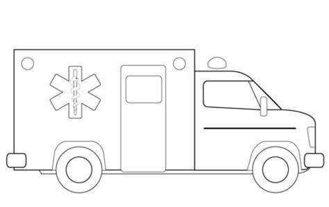 coloriage camion ambulance coloriages 224 imprimer gratuits