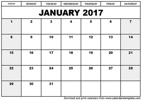 Blank Calendar Docs New 2017 Printable Calendars Print Blank Calendars