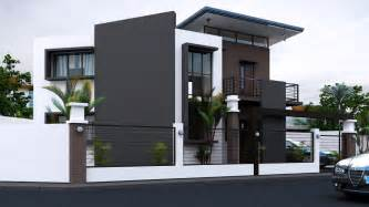 Awesome Designing Of Home Design Black White House With Stunning Interior Amazing
