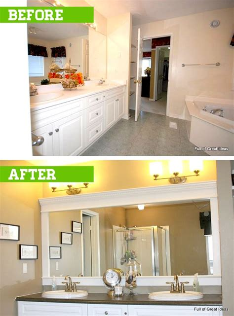 upgrade bathroom cost how to upgrade your builder grade mirror frame it cost
