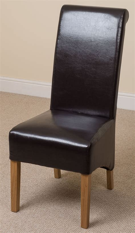 Scroll Back Leather Dining Chairs Montana Scroll Back Leather Dining Chairs Dining Room Furniture Ebay