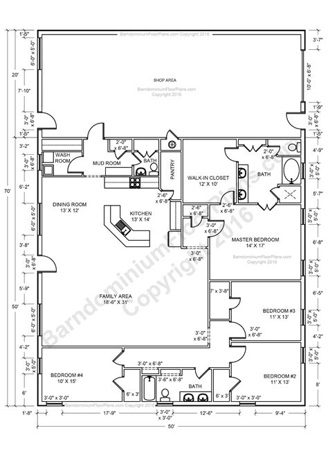 House Plans Shop by Barndominium Floor Plans Barndominium Floor Plans 1 800