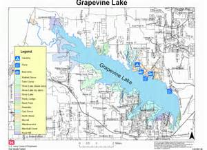map lake grapevine