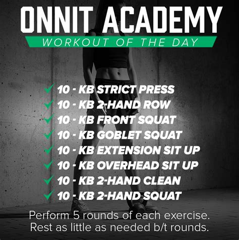 of the day onnit academy workout of the day 43 kettlebell workout onnit academy