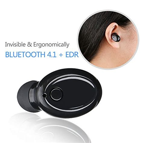 Mini Ear Headset Dual Earphone Bluetooth Call Mic Hook bluetooth headset archeer ah25 mini bluetooth earpiece smallest and invisible in ear earphone
