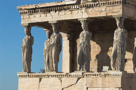 Athens Architecture Maidens Great Names In History